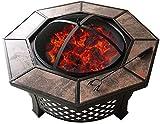 SHILONG Style Extérieur Brazier Un Extérieur Table Table Basse Table Barbecue Cour Barbecue Céramique
