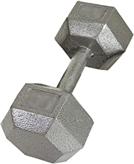 USA Sports Hex Style Dumbbell (Gray Baked Polyester Finish) - Each