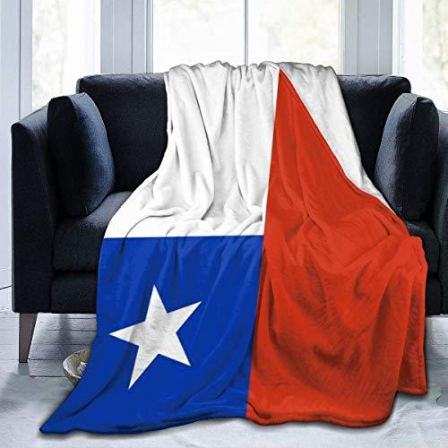 huatongxin Mantas de Tiro,Manta lanuda,Couch Wrap,Manta de Microfibra,National Chile Flag Men & Women Manta de Franela para sofá Cama Oficina en casa,All Seasons S