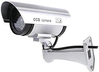 BW Dummy Cameres Outdoor Indoor Fake Dummy Imitation CCTV Überwachungskamera mit Blinken Blinklicht Bullet Form Schwarz Silber