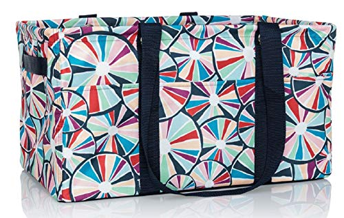 Thirty-One Deluxe Utility Tote in Pinwheel Party - No Monogram - 4441