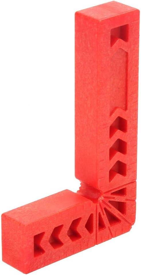3in Samfox Plastic L Typ 90 Grad rechtwinkliges Lineal Hilfssuchger/ät Holzbearbeitungswerkzeug 4St