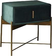 Bedside Table Bedside Table, Flannel Wood Frame Large Capacity Drawer Cabinet Bedroom Metal Bracket Small Apartment Locker...