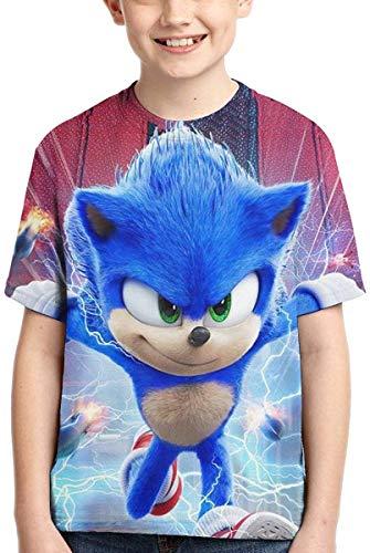 guoweiweiB Camisetas de Manga Corta para niño, Sonic The Hedgehog T Shirt Kids Youth Cartoon Anime Shirt Short Sleev for Boys and Girls