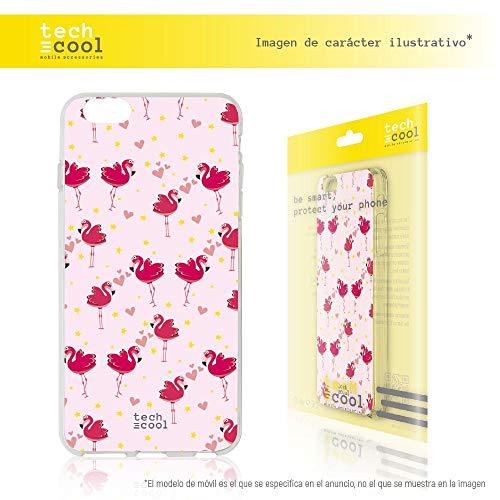 Funda Gel TPU para Xiaomi Mi5C TechCool® [Gel Silicona Flexible Alta Calidad] [Ultra Slim 1,5mm-Gran Resistencia] [Diseño Exclusivo, Impresión Alta Definición] [Flamenco rosa]