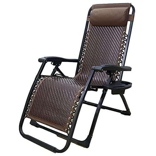 XYSQ Tumbona Plegable Silla Reclinable con Respaldo Ajustable Cama De Sol con Reposacabezas para Patio Playa Jardín (Color : C)