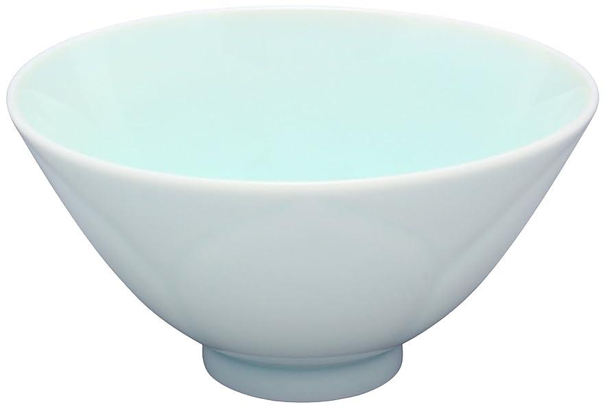 欲求不満構成するどれか有田焼 藤巻窯 WANOKA 花型 飯碗 (化粧箱入) 青白磁 03714