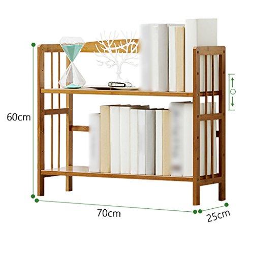 Dongyd Bibliothèque pour Enfants à 2 Niveaux avec étagère en Bambou (Size : 70cm)