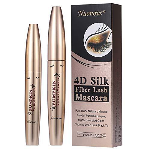 4D Silk Fiber Lash Mascara, 4D Mascara Fiber Lash mit Fasern, 4D Silk Fiber Wimperntusche, 4D Silk Mascara Waterproof, Wimpernverlängerung Wasserdicht schwarzer Länger Dicker Wimpern