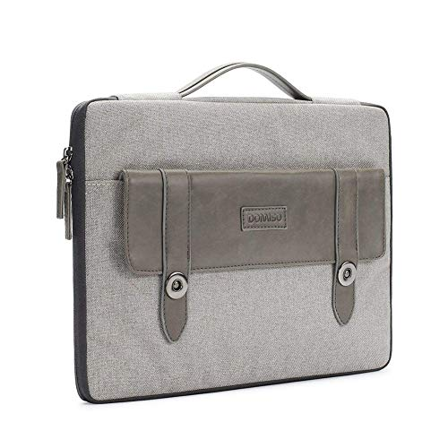CMING Shockproof Water-Resistant Laptop Briefcase Sleeve Case Notebook Laptop Bag for MacBook (Color : Gray, Size : 13 inch)