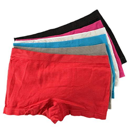 Laake Mädchen Panty Unterhose 6 Stück Microfaser Kinder Unterwäsche Boxer Shorts Slips Schlüpfer (140-146)