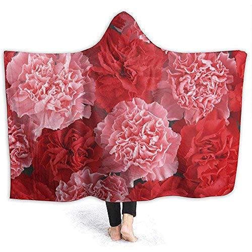 Henry Anthony Pink Peony Hoodie Decke Coral Plush Ultra Soft Plüsch Freizeit Wear Hooded Throw Wrap