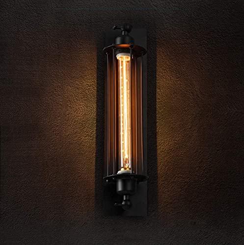 XYQS Lampada da Parete Industriale Vintage, retrò Lampada da Parete corridoio, Rustico Metallo Nero E27 Edison Agriturismo Agriturismo Applique per Il Bagno Bagno/Camera da Letto/Bar/Salone