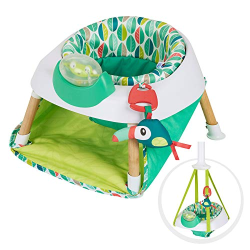 Review Evenflo Exersaucer Tiny Tropics 2-in-1 Baby Seat and Door Jumper