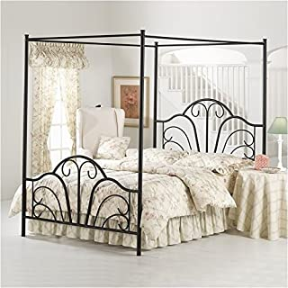 Hillsdale Furniture 348BKPR Hillsdale Dover King Canopy Bed, Textured Black