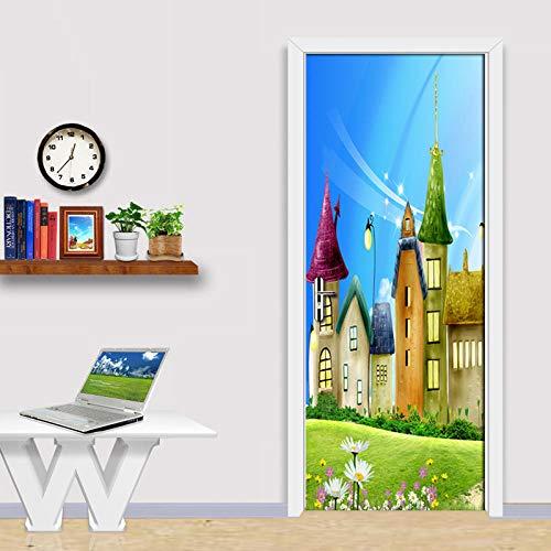 Deurfolie 3D Deurfolie Deur Achtergrond Muur Decor Schilderen Pvc Vinyl Behang Woonkamer Slaapkamer Deur Sticker 3D Muurschildering - As_Shown_95Cm_X_215Cm