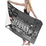 Grande Suave Ligero Microfibra Toalla de Baño Manta,Impresión de Reino Unido en Escala de Grises de Londres,Hoja de Baño Toalla de Playa por la Familia Hotel Viaje Nadando Deportes,52' x 32'