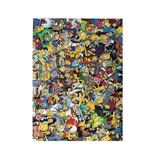 shishan The SimPsons 500Piece Jigsaw Puzzles, Adult and Kids Artistic Interesting Puzzle Game Gift Personalized Puzzle 500pcs