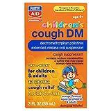 Rite Aid Children's Cough DM Medicine with 12 Hour Relief, Orange Flavor - 3 fl oz | for Ages 4 and Older | Cough Suppressant | Alcohol-Free Cough Formula