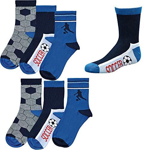 Socks 4 Fun Kinder Socken,6Pack,39/42,Soccer