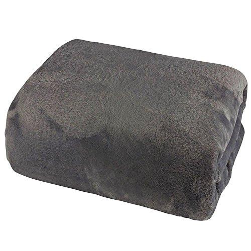 FineHome Cashmere Touch Spannbetttuch 100x200cm 100% Polyester anthrazit Spannbettlaken