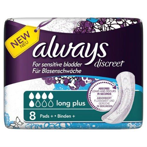Always Discreet Slipeinlagen bei Blasenschwäche, extralang, 5Packungen à 8Stück