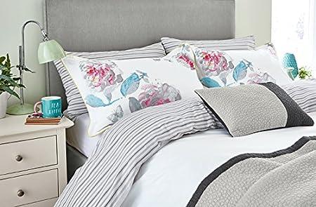 Percale Multi-Colour Single Joules Bright White Beau Bloom Duvet Cover
