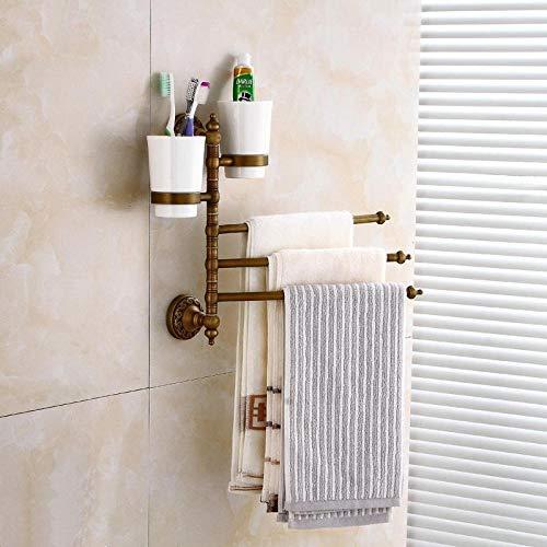 In Europese stijl volledig van koper vervaardigde antieke handdoekstang om op te hangen antieke badkameraccessoirehangers van antieke keramische activiteitenhanddoekstang