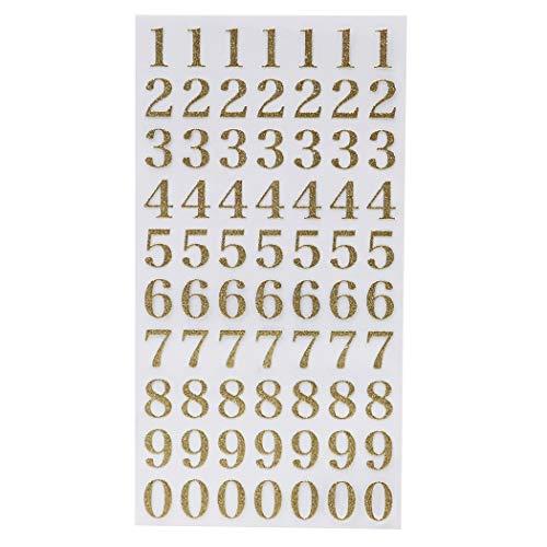 シール シート[数字 金]グリッター 文字 シール/ゴールド クローズピン DECOシール かわいい グッズ 通販