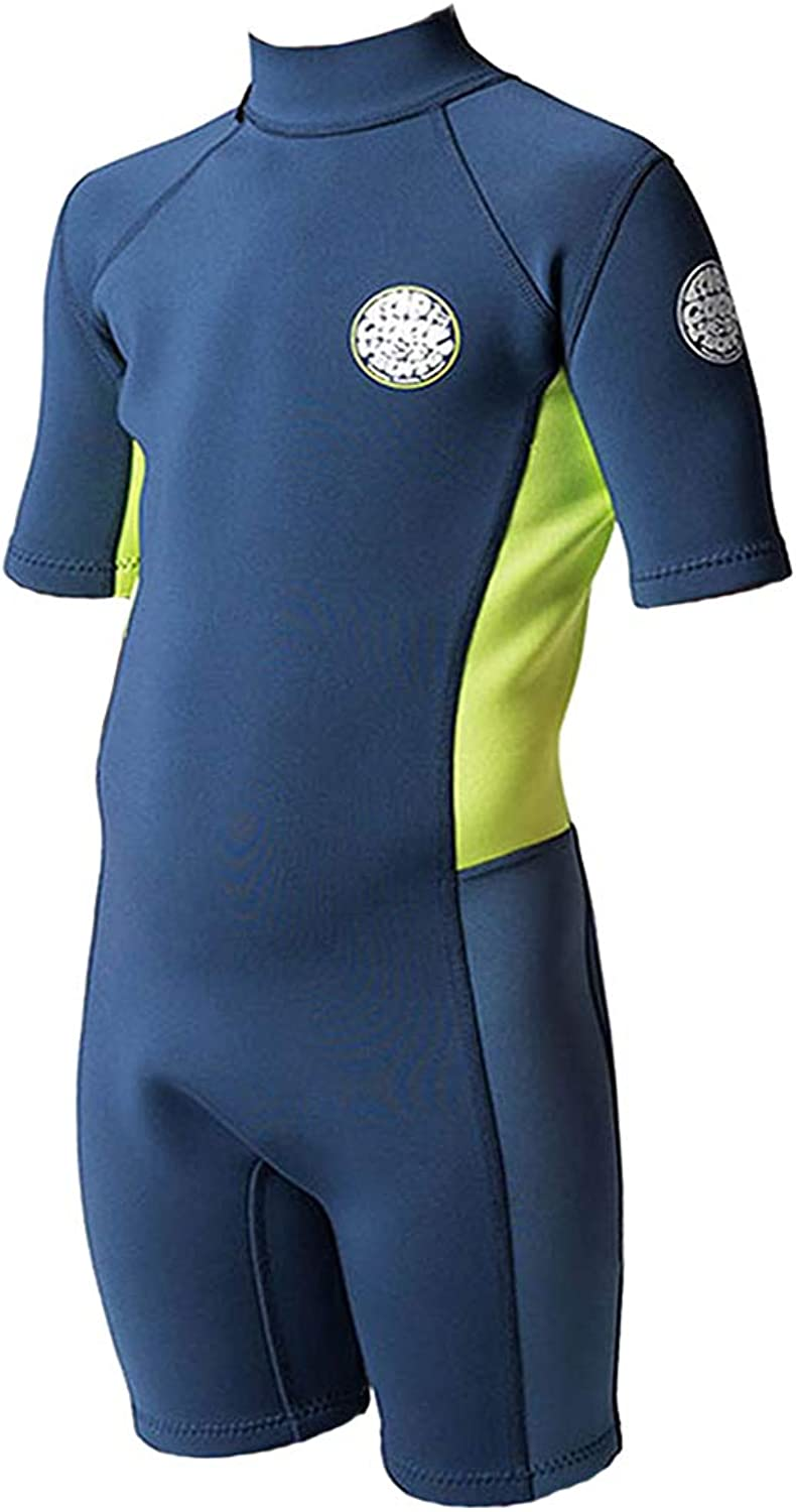 Rip Curl GROMS Aggrolite 1.5MM Spring Suit Wetsuit, Neon Pack, 14