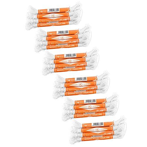 Cardoc Cordón Nylon Trenzado Tiza Línea De Ladrillos Tamaño Una 18m Construcción (Paquete De 24) TE239