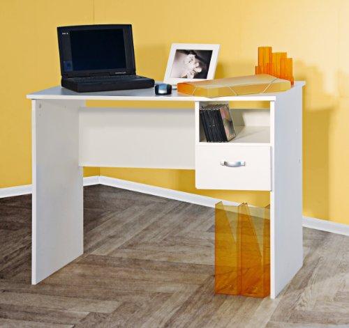 Möbeldesign Team 2000 Schülerschreibtisch Computertisch PC-Tisch weiß 8049-2