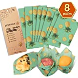 Beeswax Wraps Reusable Food Wrap Reusable Food Wraps Eco Friendly (Green)