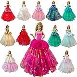 miunana 7 abiti vestiti grandi da sposa festa per 11.5 pollici 28 - 30 cm bambola per regalo 2021 stili nuovi