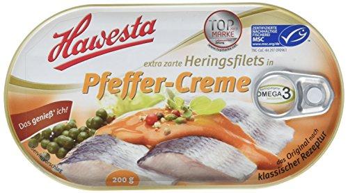 HAWESTA extra zarte Heringsfilets in Pfeffer-Creme, 200 g
