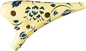 SMXGF Ocarina, 6-hole 12-hole Mid-tone C Ocarina, Student Beginner Entry Instrument, 12-hole AC Mid-tone Hand-painted Ocarina, 12-hole Qingsong Porcelain Alto C, Four Graphics Available Fácil de lleva