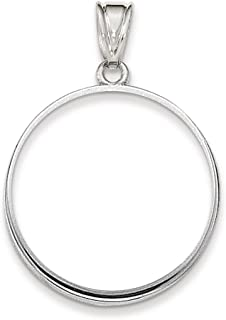 14k White Gold Prong 1/2ae Bezel Necklace Pendant Charm Coin Holders/bezel American Eagle Fine Jewelry Gifts For Women For Her