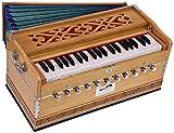 Harmonium Pro Grade By Kaayna Musicals, 11 Stop- 6 Main & 5 Drone, 3½ Octaves, Teak Colour, Regular Bellow, Coupler, Gig Bag - 440 Hz. Best for Yoga, Bhajan, Kirtan, Shruti, Mantra, Meditation, Chant