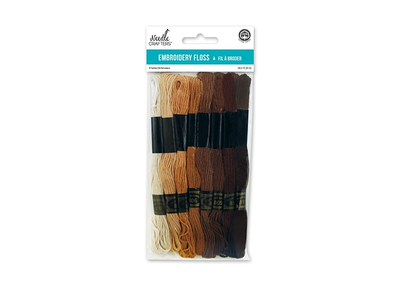 Needlecrafters Cotton Embroidery Floss, 8m, Neutrals,