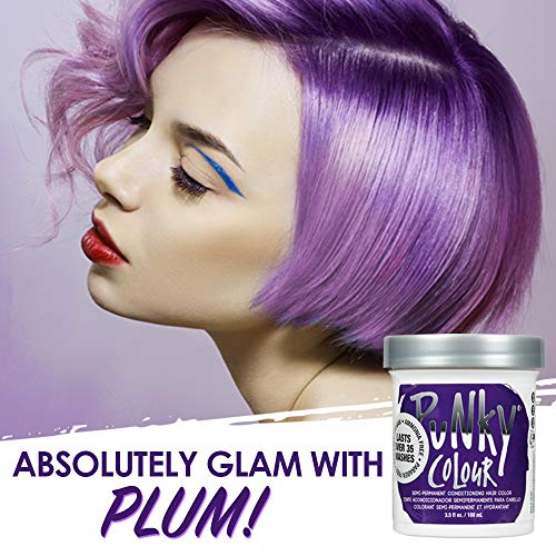 Punky Plum Semi Permanent Conditioning Hair Color, Vegan, PPD and...