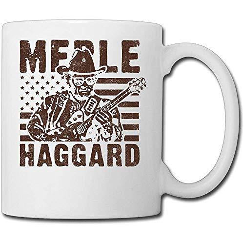 Keramische mok Muzikant Merle Haggard De Hag Thee Koffie Kantoor Bekers Keramische Mok Koffiemok 330Ml Porselein Mok Porselein Cup Gift