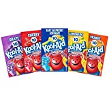 Kool-Aid Unsweetened Drink Mix Variety Pack with Grape, Lemonade, Blue Raspberry, Cherry and Orange Flavors, 0.14 oz Envelopes (Pack of 50)