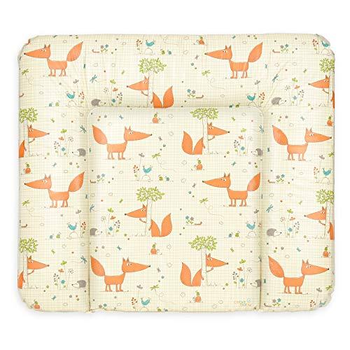 Ceba Baby Wickelauflage Wickelunterlage Wickeltischauflage 70x85 cm Abwaschbar - Fuchs 70 x 85 cm