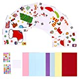 Milisten Kits de Tarjetas de Felicitación de Bricolaje Navideñas Caseras con Accesorios de Decoración para Invitación de Cumpleaños Acción de Gracias Navidad Vacaciones Baby Shower 4 Set