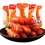 Madamera Organic Chicken and Pork Sausage, 20 Pcs/box Delicious Hot Dog, Ready to Eat, Low Carb, Perfect Snack for Adults and Children, Work, Parties (Spicy)