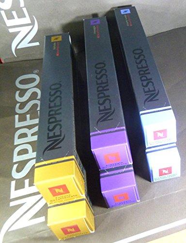 Nespresso 60 Kapseln All New 2015 Decaffeinat (2 Decaffeinat, 2 Vollututo-Decaffeinat, 2 Vivalto Long Decaffeinat)