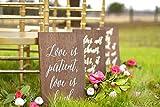CELYCASY 1 Corinther 13 Schilder, Love Never Fails Schilder, Love is Patient Schilder, Aisle...