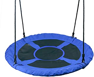 Outdoor 1M 40inch Saucer Rotate Tree Nest Swing 900D 600lbs Flying Giant Rope Round Swing