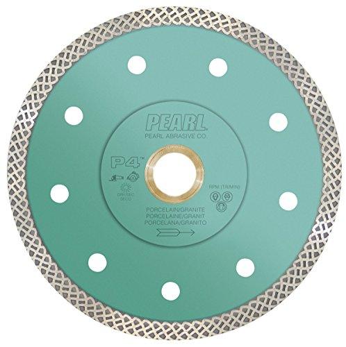 Pearl Abrasive P4 DIA04TT Turbo Mesh Blade for Porcelain and Granite 4 x...