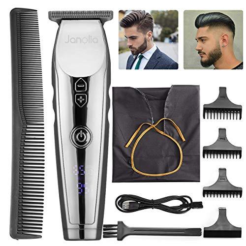 Janolia Elektrischer Rasierer 4-in-1 Rasiersystem für Bart, Ohrenhaar, Nasenhaar, Haare, Kopf waschbar für Männer